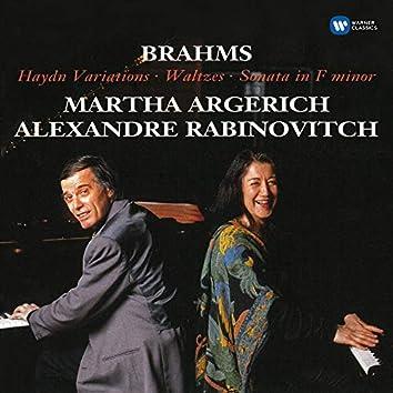 Brahms: Haydn Variations, Op. 56b, Waltzes, Op. 39 & Sonata in F Minor, Op. 34b