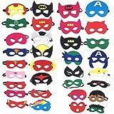 Topways® 32 Pezzi Maschere di Supereroi, Superhero Masks, Supereroi Cosplay Maschere per ...