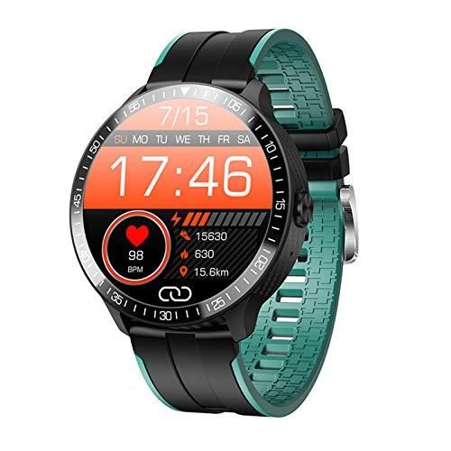 Hombre Mujer Smartwatch,Fitness Tracker Reloj Deportivo con Control De Música Ritmo Cardiaco Monitor De Presión Arterial,IP67 Impermeable Reloj Bluetooth para Android iOS-Verde