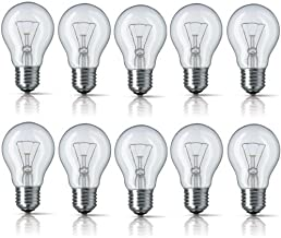 BELL 10 x 40W E27 (Edison Screw Cap) Clear Standard Classic GLS Light Bulbs, Edison Screw Cap, Incandescent Dimmable Lamps...