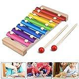 Jooheli Xilófono para niños, Xilófono de Madera, Instrumentos Musicales para niños Tambores y percusión Juguete Musical, Juguete para niña de 3-8 años,23.5x12cm