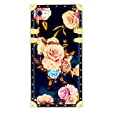 Funermei Flower Luxury Case for iPhone 6 6S 4.7',3D Soft Colorful Rose Floral Rivet Pattern Design Cute Slim Cover,Unique Women Girls Lady Phone Skin, Color TPU Cases for iPhone 6 6S