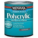 Minwax 233334444 Minwaxc Polycrylic Water Based Protective Finishes, 1/2 Pint,...
