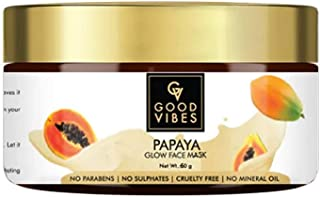 Good Vibes Papaya Glow Face Mask - 50g - Hydrating, Tan Removal and Softening For Skin Blemishes and Scars - Cruelty and P...