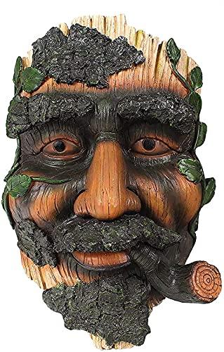 Decoração de rostos de árvores ao ar livre caprichoso homem velho árvore estátuas de abraços vaso de flores para jardim quintal arte decoração de árvores