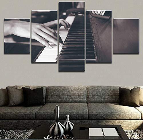 Zaosan Wandkünstler Hauptdekoration ohne Rahmen HD-Druck 5 alte Vintage Klassische Klavier Poster Musik Malerei Wohnzimmer Leinwand Poster