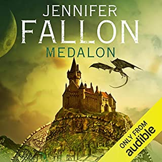 Medalon     Demon Child, Book 1              By:                                                                                                                                 Jennifer Fallon                               Narrated by:                                                                                                                                 Imogen Church                      Length: 17 hrs and 19 mins     11 ratings     Overall 4.5