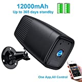Wireless Rechargeable Battery Camera,1080P Home Security Camera System,Motion Detect,Night Vision,IP66 Waterrproof,12000mAh Battery,2-Way Audio