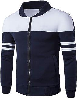 NRUTUP Men`s Full Zip Jacket, Men`s Outerwear Jackets & Coats Fashion Sportswear Patchwork Top