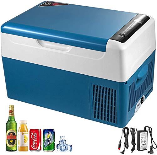 XINTONGSPP Eléctrica de compresores de refrigeración, 22L portátil pequeño refrigerador del Coche Refrigerador Congelador, empleada en la conducción al Aire Libre Pesca y el hogar-Blue