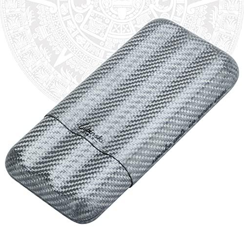 JXGXI Caja de Cigarrillos Resistente a la Humedad y a la Presión Sostiene 3 cigarro Personalidad Creativa Caja de Cigarrillos Masculina Portátil