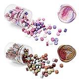 Quanerba 400 Piezas Octagonal Cuentas de Cera de Sellado, Combinaciones de 2 Colores, Sealing Wax Beads para Invitación de Boda de la Postal del Sobre Sello (Color Mixto)