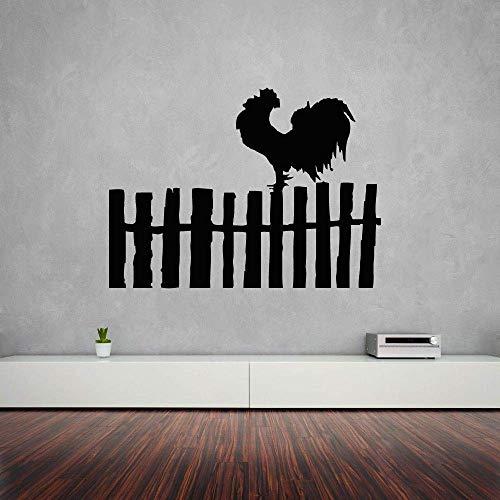 Muurstickers Haan Vogel Boerderij Muurstickers Dorp Hek Ontwerp Decoratie Boerderij Ontwerp Muursticker Vinyl Boerderij Stickers 57x42cm