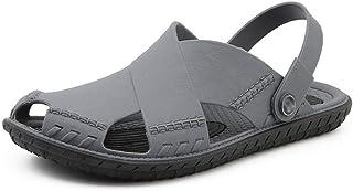 FDSVCSXV Men's Lightweight Ventilated Clogs, Mens Lightweight Shoes for Men Summer Slippers Sandals,gray,39