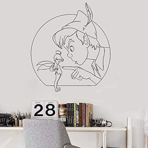 mlpnko Schlafzimmer Dekoration Wandaufkleber Familie Dekoration Märchen Magie Wandtattoos Cartoon Spielzimmer Aufkleber 50X56cm