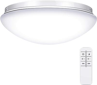 LEDシーリングライト 24W 調光タイプ ~6畳 リモコン付き タイマー設定 常夜灯 明るさメモリ機能 LEDライト 6畳シーリング 簡単取付 天井照明 照明器具 部屋 和室 台所 洗面所 PSE認証済み 日本語説明書付き