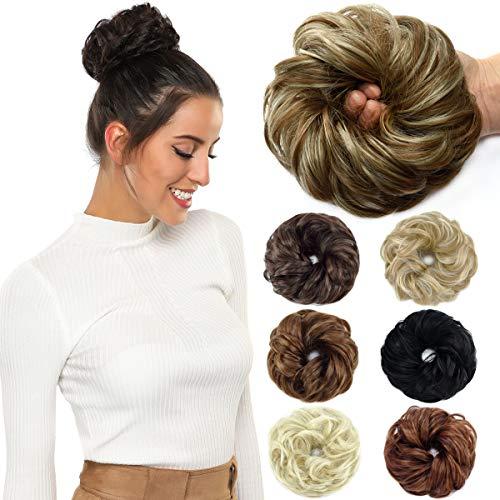 ROSEBUD Hair Bun Extensions Messy Synthetic Chignon Hairpiece Easy Bun Hair Pieces for Women Hair Updos