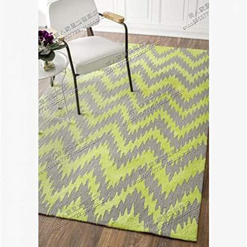 JiADT tapijt met handleiding (mogelijk niet beschikbaar in het Nederlands). niet beschikbaar in het Nederlands), dekens voor bank, woonkamer, slaapkamer, acryl tapijt op bestelling van klassieke gele golf.