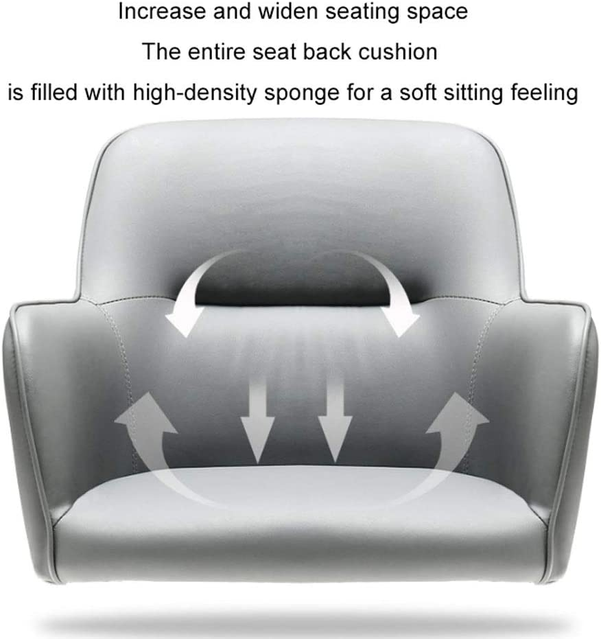 ZWH-Chaises de Bureau Fauteuil Gamer Fauteuil à Dossier Bas Bureau pivotant Tabouret Roulant à Hauteur réglable Bureau d'ordinateur de Maison Chaise Travail (Color : Gray) Gray