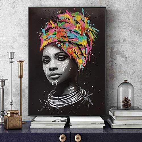 Portrait de femme africaine Toile Peintures Sur Le Mur...
