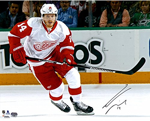 "Gustav Nyquist Detroit Red Wings Autographed 16"" x 20"" White Jersey Skating Photograph - Fanatics Authentic Certified"