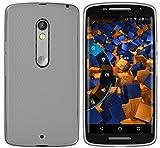 mumbi Hülle kompatibel mit Motorola Moto X Play Handy Hülle Handyhülle, transparent schwarz