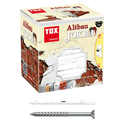 TOX Allzweck-Spreizdübel Altbaujoker 8 x 90 mm, 12 Stück, 009101251