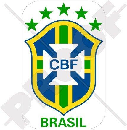BRÉSIL Brésilien Équipe Nationale de football, Bresil, 120mm Vinyl Sticker, Autocollant