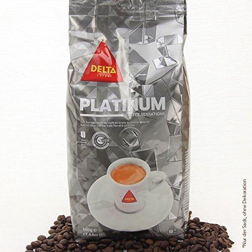 DELTA Café en granos - PLATINUM/PLATINA (café en granos) - 3 paquetes x 500 gramos