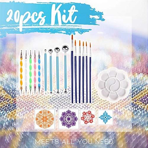 pegtopone 20 Stück Punktierwerkzeuge DIY Kunst Malwerkzeuge Very Well