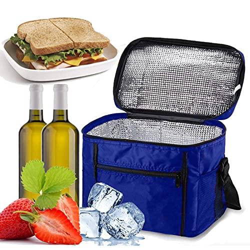Cooler Bag Lunch 10l portátil Cool Box Suave Cara Refrigeración para Picnic Camping BBQ Shopping Azul