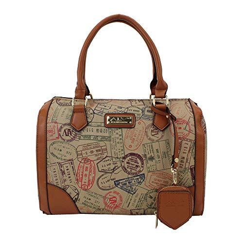 ALVIERO MARTINI ALV Borsa con traccola - bag with shoulder by donna Safari- 29,5X21X17