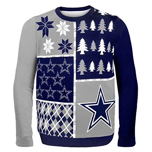 NFL Dallas Cowboys BUSY BLOCK Ugly Sweater, Medium