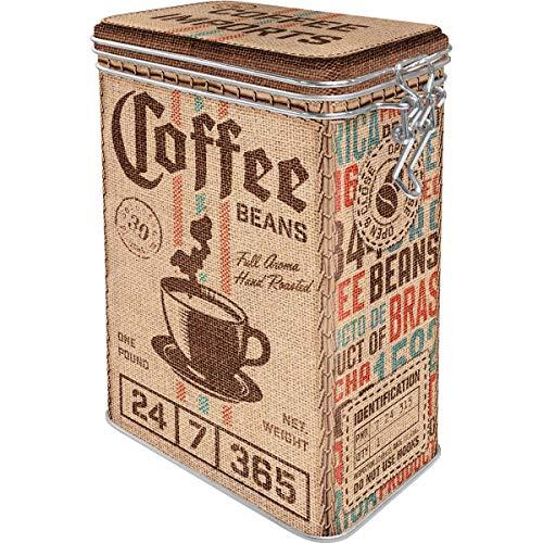 Nostalgic-Art Retro Kaffeedose Coffee Sack – Geschenk-Idee für Kaffee-Liebhaber, Blech-Dose mit Aromadeckel, Vintage Design, 1,3 l