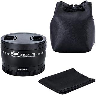 Kiwifotos 58mm 2in1 0.45X Wide Angle Lens+10X Super Marco Lens for Canon, Nikon, Fujifilm (KLS-58X045)