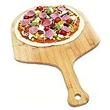 XIANGSHANG Pizza Paddle Pizza Tray Pizza Bandeado Bandeja Pizza Piedra Banda De Madera con Carne De Filete De Vajilla Tablero De Corte Plato Pizza Pastel De Horquilla Herramientas