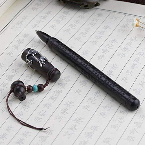 S925 Silber Inlay Sandelholz Silber Stift Buddhistische Kultur Bibel Frauentag Silberschmuck, WOZUIMEI, Wie gezeigt