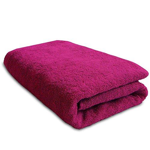 Lanudo XXL-Duschtuch Pure Line Badetuch mit Webbordüre 100% Baumwolle, Pink