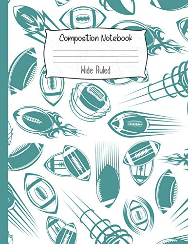 Composition Notebook Wide Ruled: Funny Rugby Notebook | Cute Wide Ruled Journal for school, college, take notes | for teens, students, teachers, ... Gift or Birthday Present for Adults and Kids