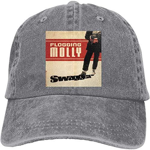 NA Flogging Molly Swagger Cowboyhut für Herren und Damen, verstellbar, Schwarz