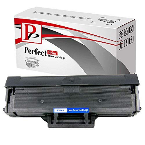 PerfectPrint Compatible Toner Cartridge Replacement for Dell B1160 B1160W B1163W B1165NFW (Black)