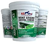 Mint Sticks Dog Dental Chews - 30 Premium Teeth Cleaning Natural Peppermint Chew Treats Dogs Love. Best for Oral Hygiene Care Prevents Bad Breath Reduces Plaque and Tarter Buildup