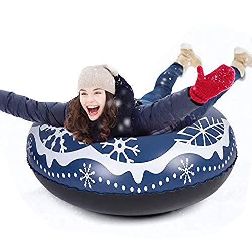 Inflable Nieve Tubo Trineo para Niños y Adultos 120cm, JanTeelGO Tarea Pesada Trineo de Nieve con Asas, Antiarañazos, Juguetes de nieve gigantes para deportes de invierno