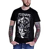 T-Shirt Batman Evil Joker Style Bande dessinée Coton Noir - S