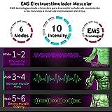 Electroestimulador Muscular Abdominales,6 Modos y 10 Niveles de Intensidad,Entrenador Muscular Abdominal con USB Recargable,Abdomen/Glúteos/Piernas (Hombres/Mujeres)