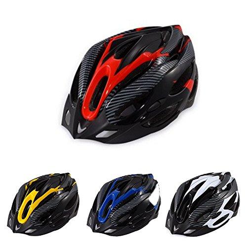GCDN Casco de Bicicleta de montaña, Ciclismo Casco de Bicicleta Seguridad Deportiva Casco Protector Cómodo y Ligero Casco Transpirable para Hombres/Mujeres Adultos(Red)