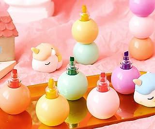 Pfedxoon Surligneur licorne 3 couleurs Glossy Magic Stylo pour peinture, carte cadeau, album photo, scrapbooking, loisirs ...