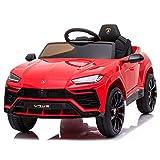 ATAA Coche de batería para niños Lamborghini Urus con batería de 12v y Mando Control Remoto - Rojo