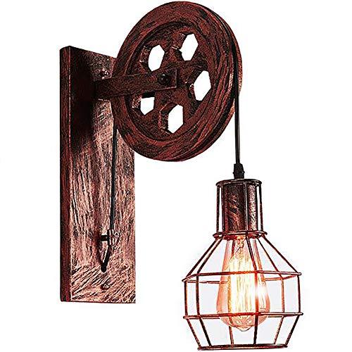 Lyghtzy Lampara Pared De Metal De Estilo Industrial Vintage Aplique Pared Interior...