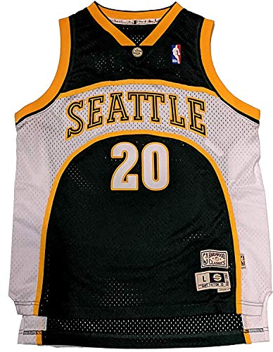 Youth Gary Payton Seattle Supersonics 2000-01 HWC Jersey (Youth Small (8)) Green